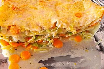 Wunderbare Spitzkohl - Möhren - Lasagne 10