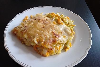 Wunderbare Spitzkohl - Möhren - Lasagne 2