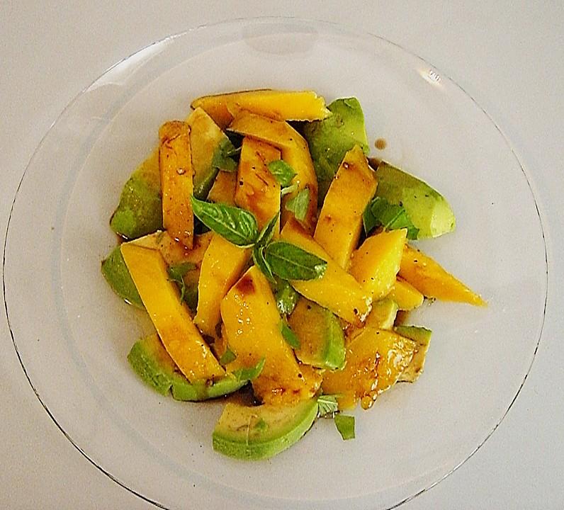 avocado mango salat rezept mit bild von estranha. Black Bedroom Furniture Sets. Home Design Ideas