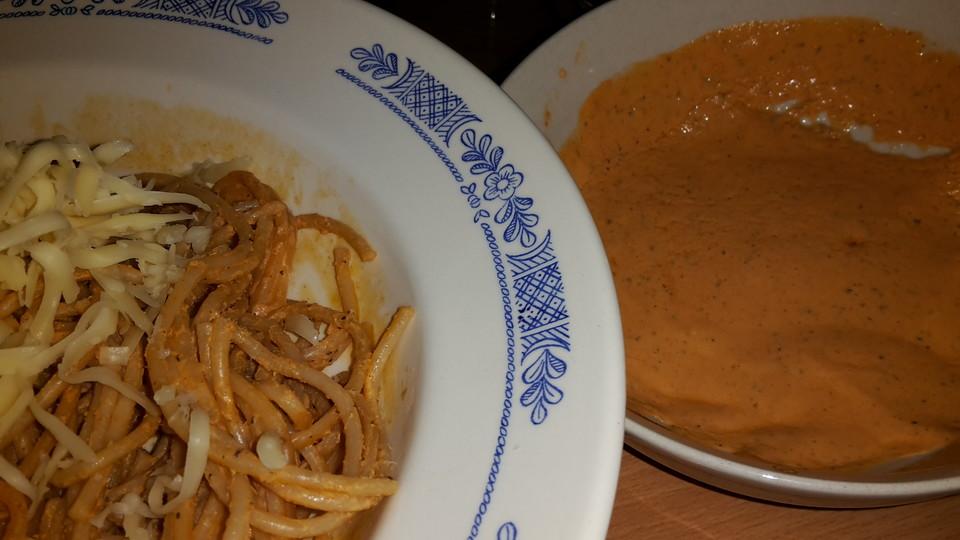 schnelle und fettarme pasta mit tomatenquark von aiksasa. Black Bedroom Furniture Sets. Home Design Ideas