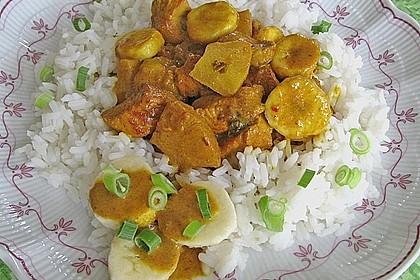 Curryfleisch mit Banane 2