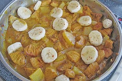 Curryfleisch mit Banane 1
