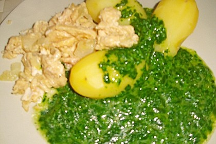 Kartoffeln, Spinat, Käse und Ei 18
