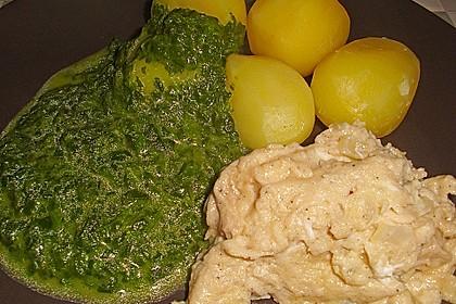 Kartoffeln, Spinat, Käse und Ei 7