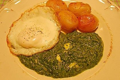 Kartoffeln, Spinat, Käse und Ei 8