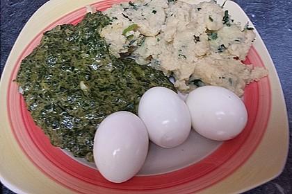 Kartoffeln, Spinat, Käse und Ei 6