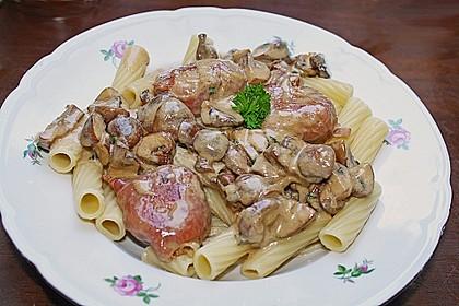 Schweinemedaillons im Parmaschinkenmantel mit Steinpilz - Gorgonzola - Sauce 41