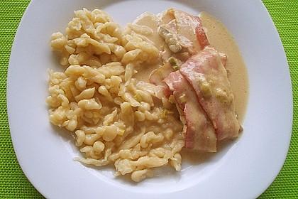 Schweinemedaillons im Parmaschinkenmantel mit Steinpilz - Gorgonzola - Sauce 64