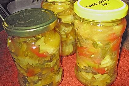 Eingelegte Curry - Zucchini 2