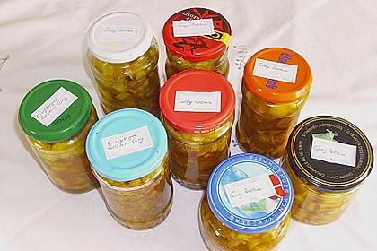 Eingelegte Curry - Zucchini