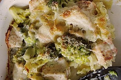 Nudel - Lachs - Auflauf mit Brokkoli 3
