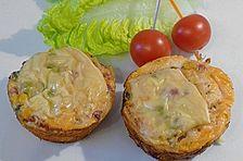 Nudel - Schinken - Muffins mit Gemüse