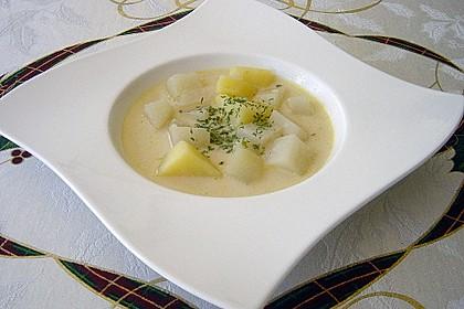 Kohlrabisuppe mit Kartoffeln 2