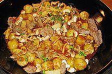 Rosenkohl - Fleisch - Pfanne  asiatisch