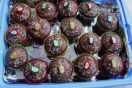 Schokomuffins mit Zartbitterschokolade 10