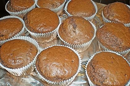 Schokomuffins mit Zartbitterschokolade 8