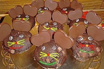 Schokomuffins mit Zartbitterschokolade