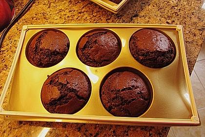 Schokomuffins mit Zartbitterschokolade 5