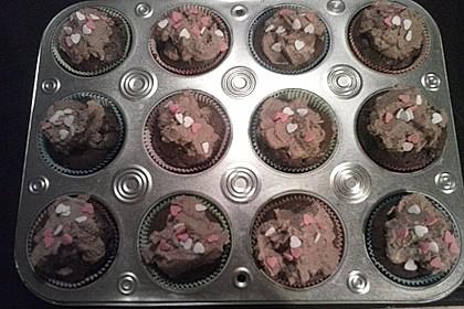 Schokomuffins mit Zartbitterschokolade 9