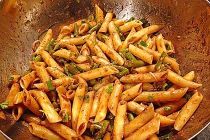 Grüne Bohnen - Nudel - Salat