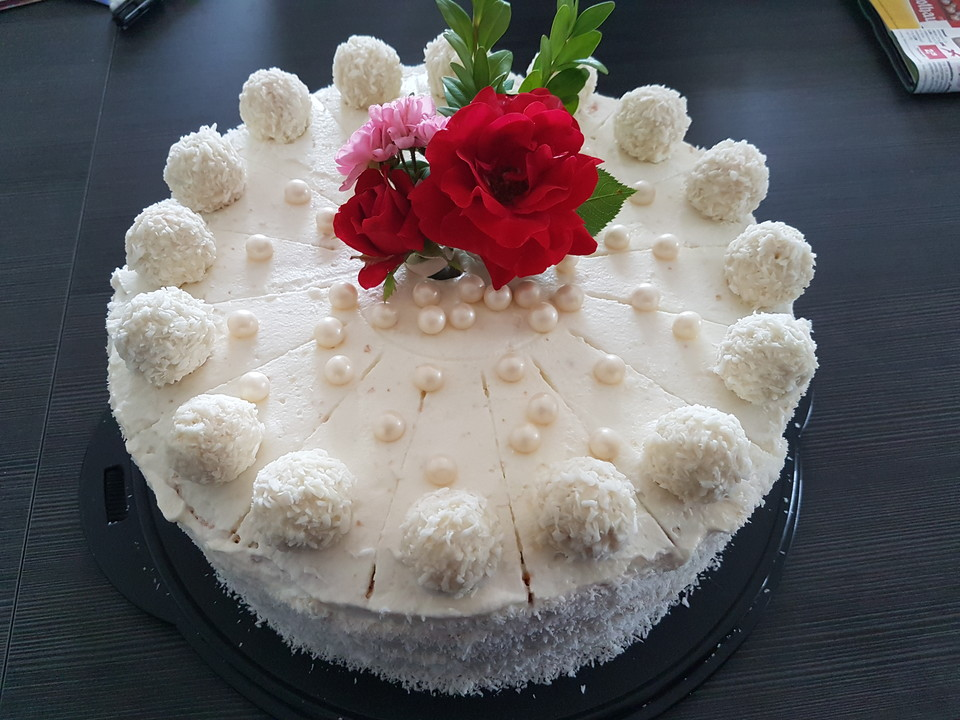 Raffaello torte nougat