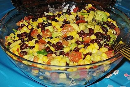 Mexikanische Salsa mit schwarzen Bohnen und Mais 1