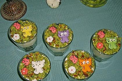 Süßer grüner Spinatkuchen 12