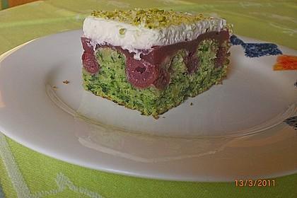 Süßer grüner Spinatkuchen 9