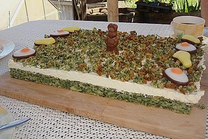Süßer grüner Spinatkuchen 13