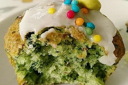 Süßer grüner Spinatkuchen 1