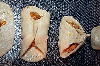 Herbst - Manti mit Süßkartoffeln und Hokkaido - Kürbis