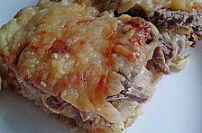 Kartoffelpizza mit Schweinefilet