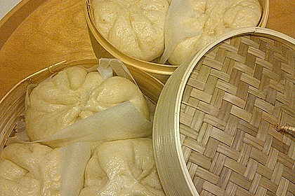 Char siu bao (white buns) 2