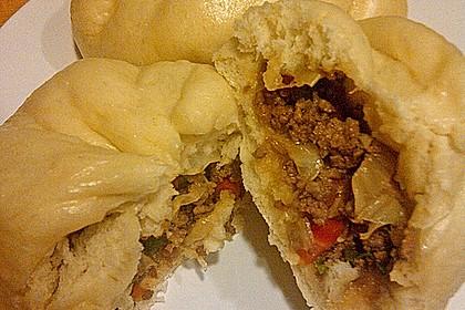 Char siu bao (white buns)