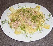 Spagetti in Thunfischsoße mit Artischokenherzen (Bild)