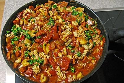 Tomaten - Sahne - Champignon - Sauce 1