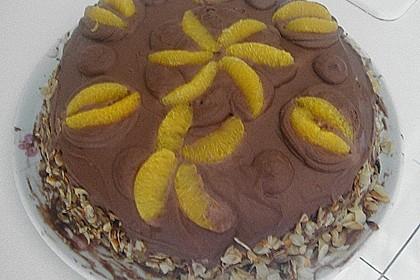 Nougat - Orangencreme - Torte 15