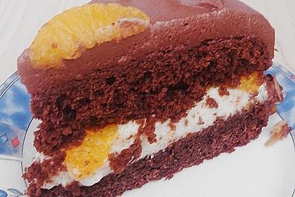 Nougat - Orangencreme - Torte 16