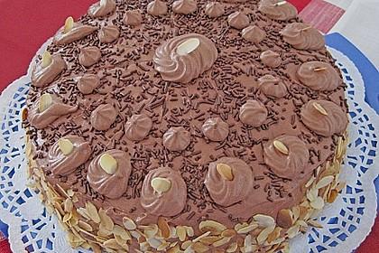 Nougat - Orangencreme - Torte 5