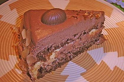 Nougat - Orangencreme - Torte 13