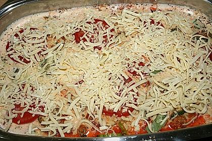 Hackfleisch - Zucchini - Kartoffel - Tomatenauflauf 4