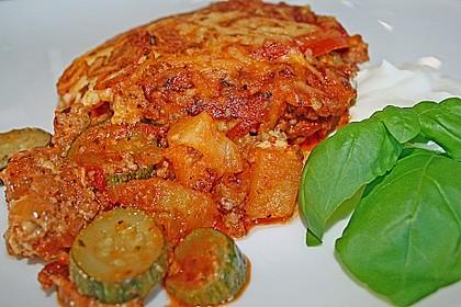 Hackfleisch - Zucchini - Kartoffel - Tomatenauflauf