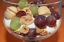 Weintrauben - Dessert mit Amarettini