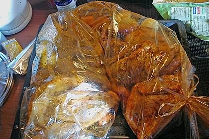 Perlhuhn oder Huhn mit Gemüse im Bratschlauch, einfach 1
