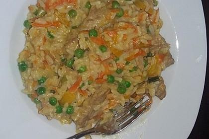 Reis - Gemüse - Pfanne mit Frischkäse 34