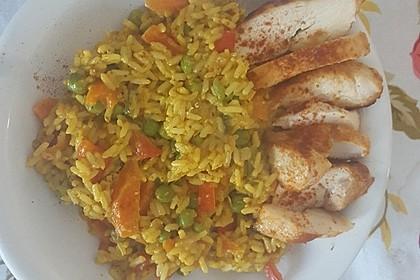 Reis - Gemüse - Pfanne mit Frischkäse 15