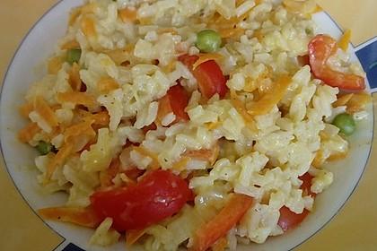 Reis - Gemüse - Pfanne mit Frischkäse 19