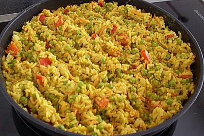 Reis - Gemüse - Pfanne mit Frischkäse 11