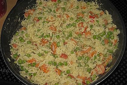 Reis - Gemüse - Pfanne mit Frischkäse 16