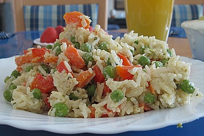 Reis - Gemüse - Pfanne mit Frischkäse 8